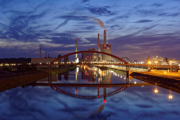 Coal-fired power plant at Mannheim in Germany.