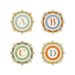 Elegant vector emblem template collection
