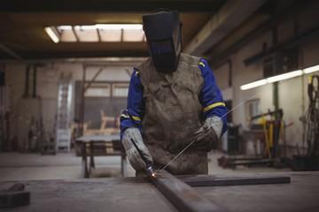 Welder using a welding torch