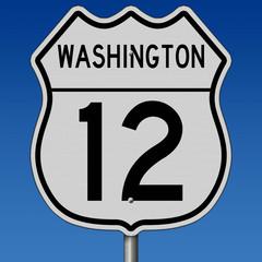 Washington highway 12 sign