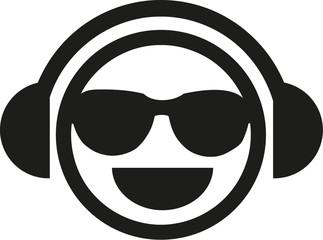 DJ smiley with sunglasses