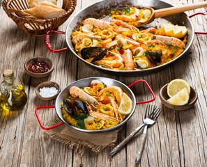 Typical spanish paella.