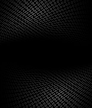 Black and white abstract halftone, perspective background