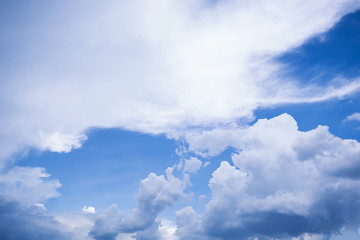 beautyful blue sky with cloud