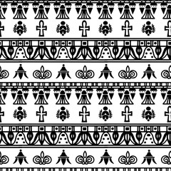 Egyptian vintage seamless pattern.