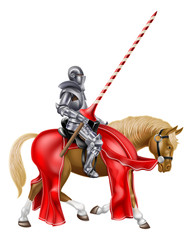 Papiers peints Chevaliers Medieval Knight on Horse