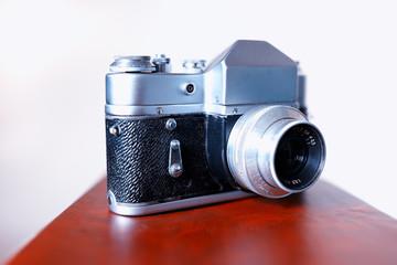 Vintage rangefinder camera background