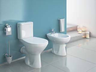 Modern wc, bathroom, toilet