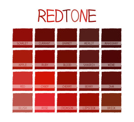Redtone Color Tone with Name Vector Illustration