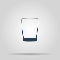 Glass of whiskey isolated photo-realistic vector illustration.