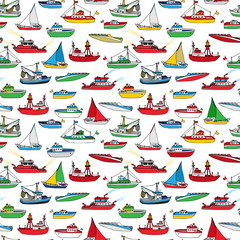 Colourful seamless marine pattern.