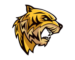 Leadership Animal Logo - Fierce Tiger Character