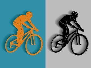 silhouette of rider on bike