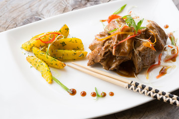 Asian fried meat dish
