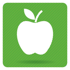 Apple bottom. Apple silhouette. Vector illustration