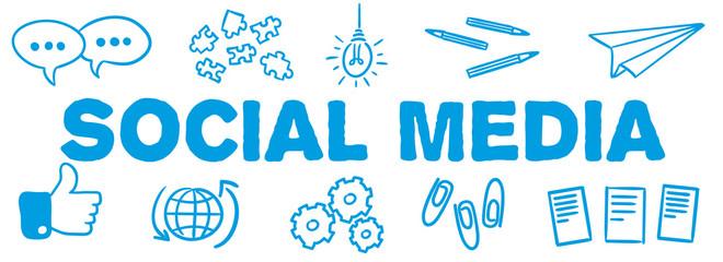 Stick Figure Series Banner Blue / Social Media