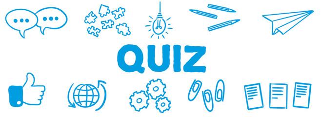 Stick Figure Series Banner Blue / Quiz