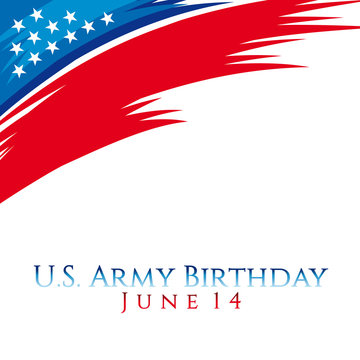 A header illustration for United States Army birthday