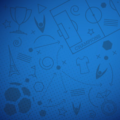 Abstract blue soccer background