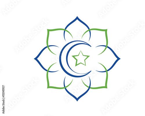 Modern Mosque Logo Symbol - Islamic Pattern Dome
