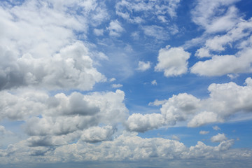 Canvas Prints white fluffy cloudy above summer sky background