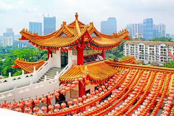 Red lanterns decoration in Thean Hou Temple, Kuala Lumpur, Malay