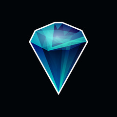 Diamond icon on a black background