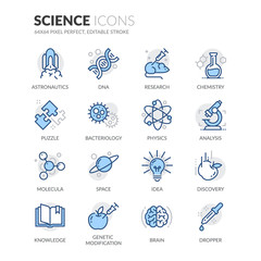 Line Science Icons
