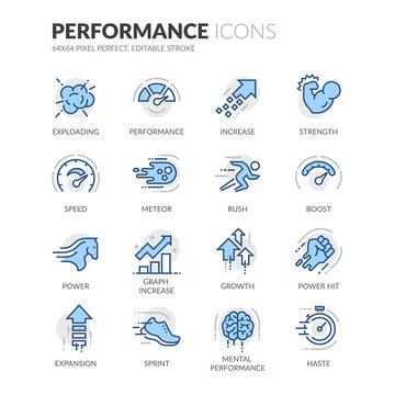 Line Performance Icons