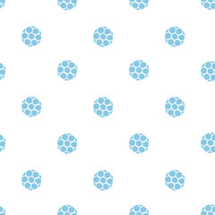 Soccer ball blue seamless pattern for prints