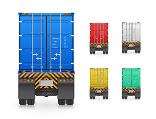 Trailer and cargo container