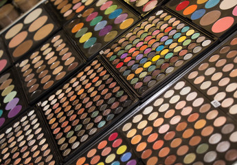 boxes with eyeshadows