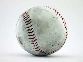 Dirty Baseball with white background