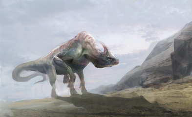 dinosaurs, parasaurolophus from Jurassic age