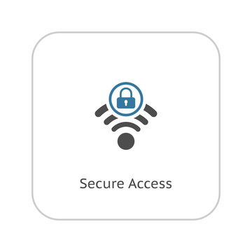 Secure Access Icon. Flat Design.