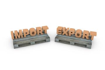 Palette mit Import und Export