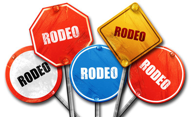 rodeo, 3D rendering, street signs