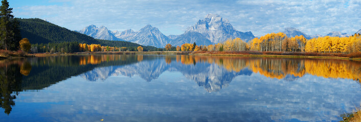 Canvas Prints Blue jeans Autumn landscape in Yellowstone, Wyoming, USA