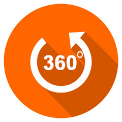 Orange flat design vector panorama icon