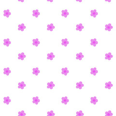 small pink flowers pattern seamless vector