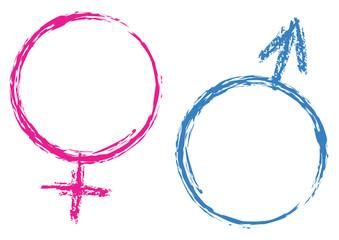 weiblich männlich zeichen word