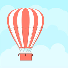 Background with hot air balloon Vector illustration.