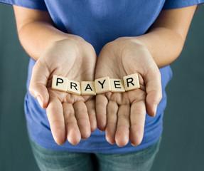 Prayer Spelled in Tiles