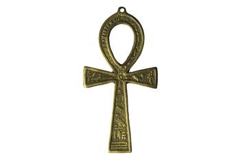 Egyptian symbol of life Ankh isolated on white