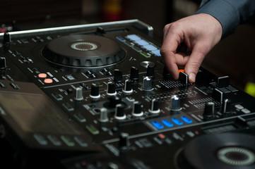 DJ mixer to play music