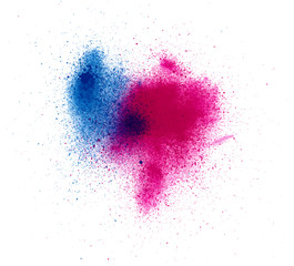 Abstract  watercolor palette of blue and Magenta  colors, mix color, background, a mixture of colors, stains with a spray of water colors, the author's work.