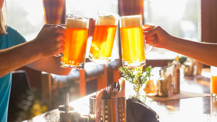 Clinking with Friends using Beer Glass