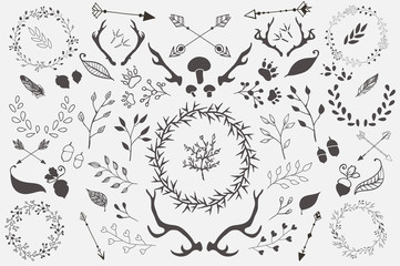 Hand Drawn Forest Vector Elements