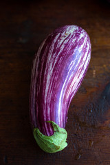 Purple and white aubergine