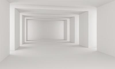 white interior hall room